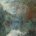 Willows At The Edge Of The Yerres by Claude Monet