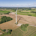 Wind Turbines In Suwalki. Poland. View From Above. Summer Time. by Mariusz Prusaczyk