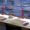 Window Seating In An Upscale Cafe by Jaak Nilson