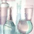 Wine Glasses And Bottles Of Drinks  by   larisa Fedotova