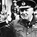 Winston Churchill by English School