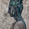 Woman In Bronze Statue Look With Patina Body Paint by Veronica Azaryan