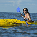 Woman Kayaking by Anthony Totah