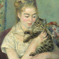 Woman With A Cat by Auguste Renoir