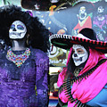 2 Women Day Of The Dead  by Chuck Kuhn