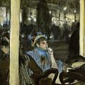 Women On A Cafe Terrace by Edgar Degas