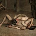 Wrestlers  by Thomas Eakins