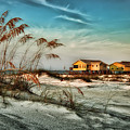 2 Yellow  Beach Houses At Mobile Street by Michael Thomas