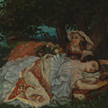 Young Ladies On The Bank Of The Seine by Gustave Courbet