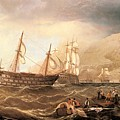 Miller Charles Henry Shipping Off Gibraltar Charles Henry Miller by Eloisa Mannion