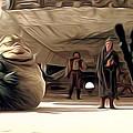 Vintage Star Wars Poster by Larry Jones