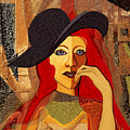 200 - Woman With Black Hat .... by Irmgard Schoendorf Welch