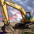 2004 Komatsu PC200LC-7 Track Excavator by Brad Burns