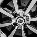 2005 Lotus Elise Wheel Emblem -0079bw by Jill Reger