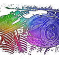 2007 Harley C 01 Cool Rainbow 3 Dimensional by Di Designs