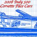 2008 Indy 500 Corvette Pace Car Blueprint Series by K Scott Teeters