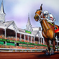 2008 Kentucky Derby Winner Big Brown by Dave Olsen
