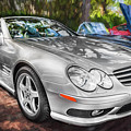 2008 Mercedes Benz Sl500 V8 Coupe Painted   by Rich Franco