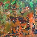 2009 Dali 100x100cm Acrylic  And Oil On Canvsa by Tamy Moldavsky