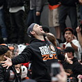 2012 San Francisco Giants World Series Champions Parade - Marco Scutaro - Dpp0008 by Wingsdomain Art and Photography