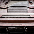 2015 Mclaren 650s Spider Rear Emblem -0011ac by Jill Reger