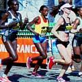2016 Boston Marathon Winner 2 by Cliff Wilson