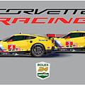 2016 Daytona 24 Hour Corvette Poster by Alain Jamar