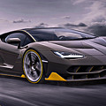 2017 Lamborghini Centenario by Movie Poster Prints
