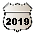 2019 Highway Sign by Bigalbaloo Stock