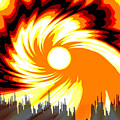 205 - Poster Climate Change  2 ... Burning Summer  Sun  by Irmgard Schoendorf Welch