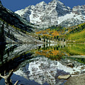 210426 Maroon Bells Reflect  by Ed  Cooper Photography