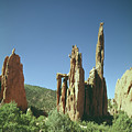 210805-v Spires In Garden Of The Gods With Climber by Ed Cooper Photography
