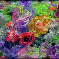 21a Abstract Floral Painting Digital Expressionism by Ricardos Creations