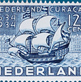 Old Dutch Postage Stamp by James Hill