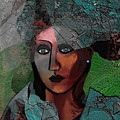 239 - Young Woman In Green Dress 2017 by Irmgard Schoendorf Welch