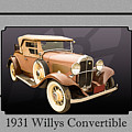 1931 Willys Convertible Car Antique Vintage Automobile Photograp by M K Miller
