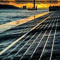25 De Abril Bridge In Lisbon. by Pablo Lopez