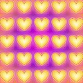 25 Little Yellow Love Hearts by Geraldine Cote