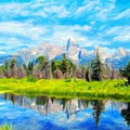 Nature Art Landscape by World Map
