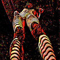 2716s-res Long Legs Nude Rendered As Abstract In Red by Chris Maher