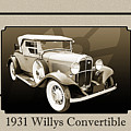 1931 Willys Convertible Car Antique Vintage Automobile Photograp by M K Miller