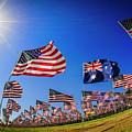 Pepperdine Flag Salute by Julian Starks
