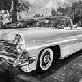 1959 Lincoln Continental Town Car Mk Iv Painted Bw   by Rich Franco