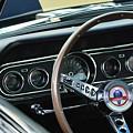 1966 Ford Mustang Cobra Steering Wheel by Jill Reger