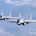 A Pair Of Bulgarian Air Force Mig-29s by Daniele Faccioli