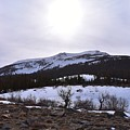 A Snowy Desert Mountain Scene Above Twin Lakes Along The Trail To Monument Ridge In The Eastern Sier by Will Sylwester