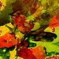Abstract Landscape, Fall Theme by Aleksandra Pomorisac