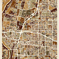 Albuquerque New Mexico City Street Map by Michael Tompsett