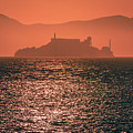 Alcatraz Island Prison San Francisco Bay At Sunset by Alex Grichenko
