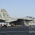 An Fa-18f Super Hornet Ready To Launch by Giovanni Colla